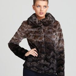 "Christian Cota for Maximilian 25"" Semi Sheared Mink Jacket with Long Hair Mink Collar ORIG $2,995.00 SALE $2,096.50"