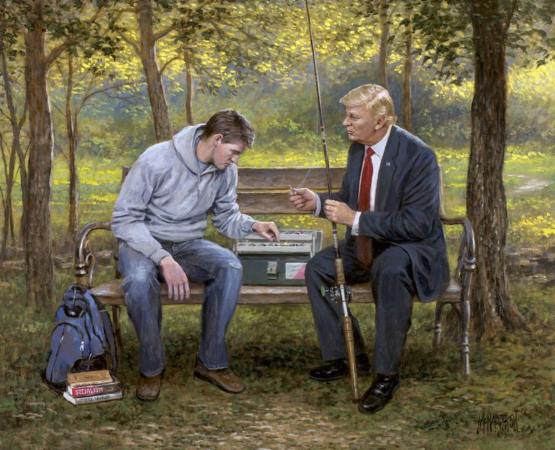 Teach_a_Man_to_Fish_16x20_WEB__02242.1524594270.1280.1280 To Trump fans, #MAGA is more than a slogan. It's an aesthetic.