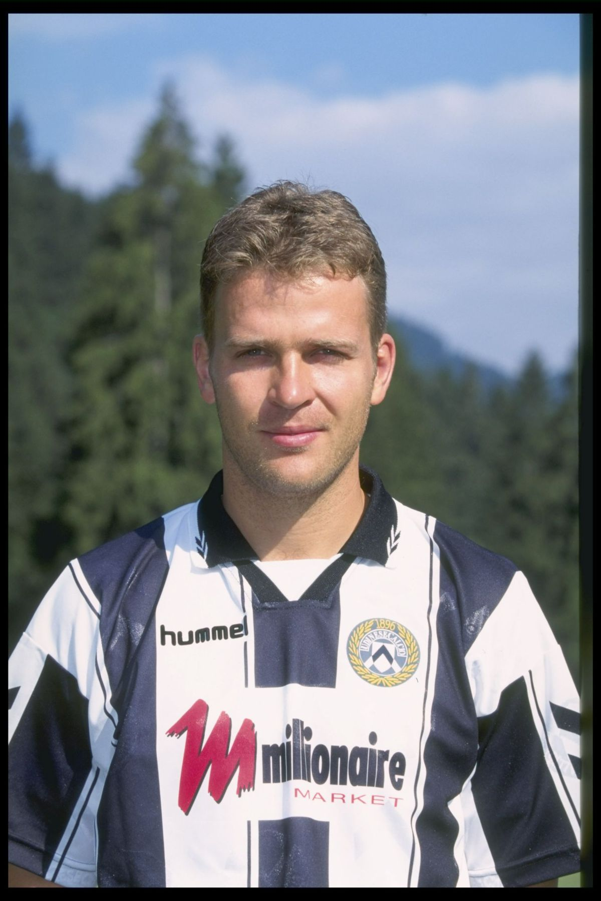 A portrait of Oliver Bierhoff of Udinese