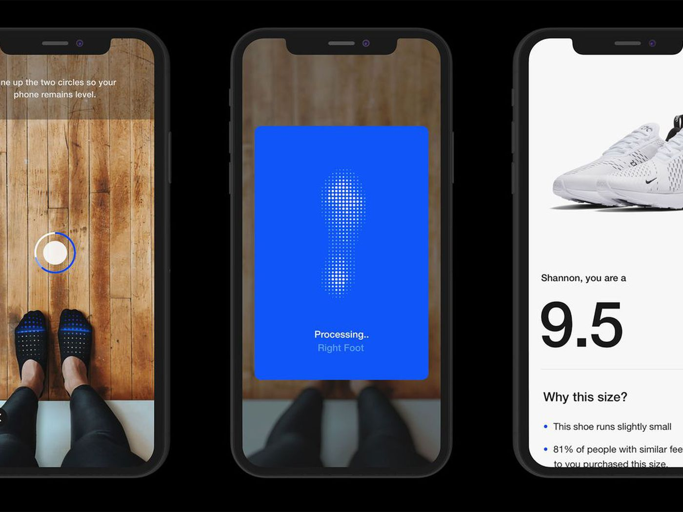 para justificar Celda de poder torre  Nike's new app uses AR to measure your feet to sell you sneakers that fit -  The Verge