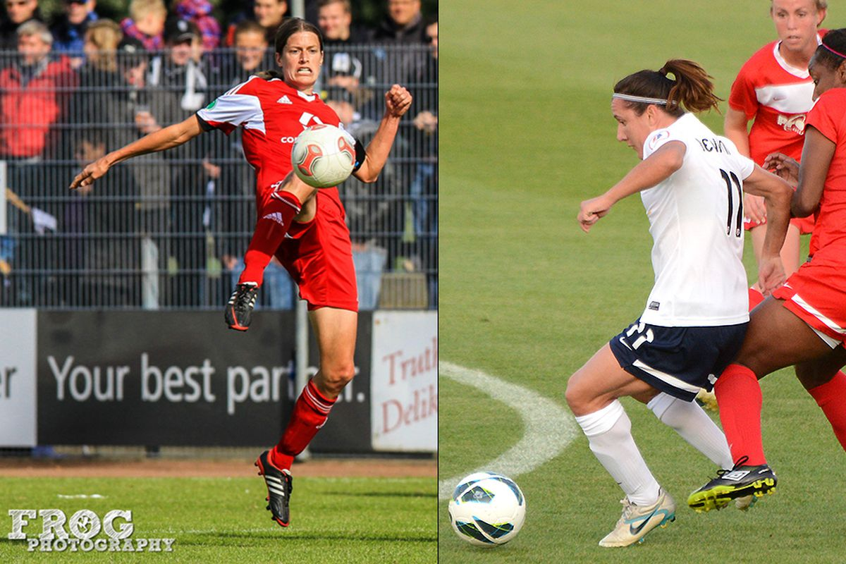 Kirsten Garefrekes (left); Lisa De Vanna (right)