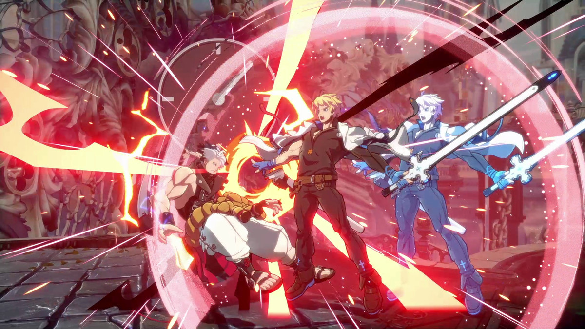 In Guilty Gear Strive, the characters face each other