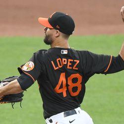 Jorge López, Orioles starting pitcher on Wednesday
