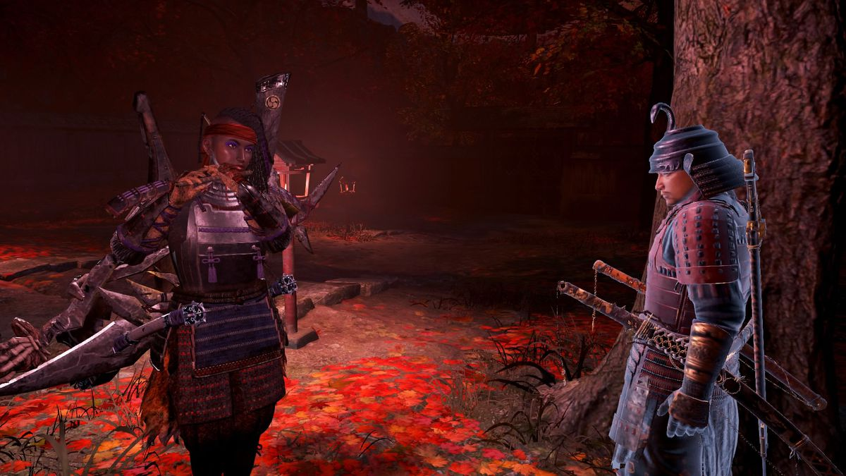 Nioh 2 protagonist plays the flute for another warrior