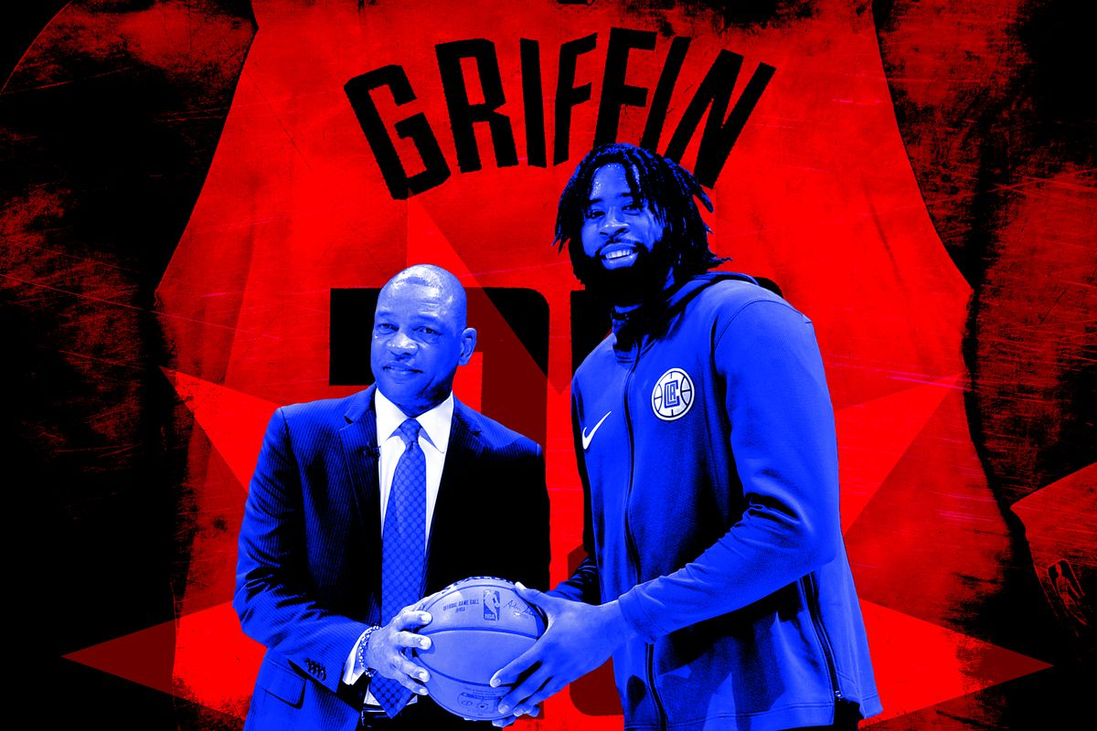 A photo illustration featuring Doc Rivers and DeAndre Jordan
