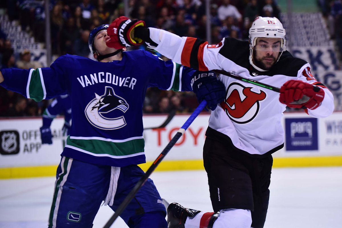 8db7cc7b8fb Devils Nearly Go 10 Rounds in Vancouver Before Knocking out the Canucks in  the Shootout