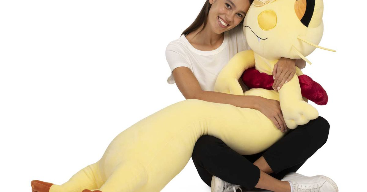 This $300 Meowth turns a meme into a five-foot-tall plushie - The Verge