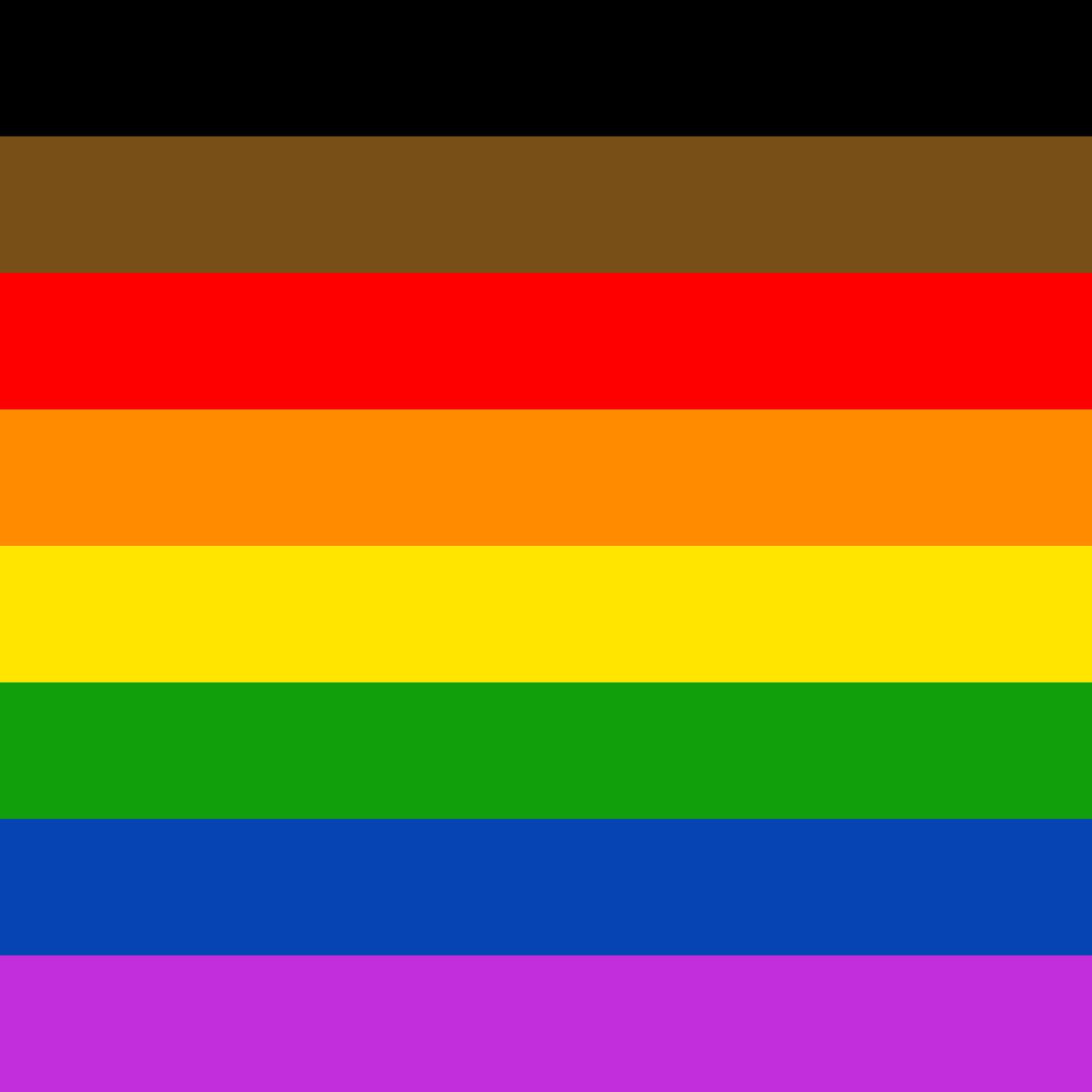 Philly Unveils New Pride Flag with Black and Brown Stripes ...