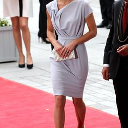 Wearing Roksanda Ilincic to a reception at Royal Academy of Arts on July 30th, 2012.
