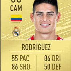 James Rodriguez in FIFA 2020