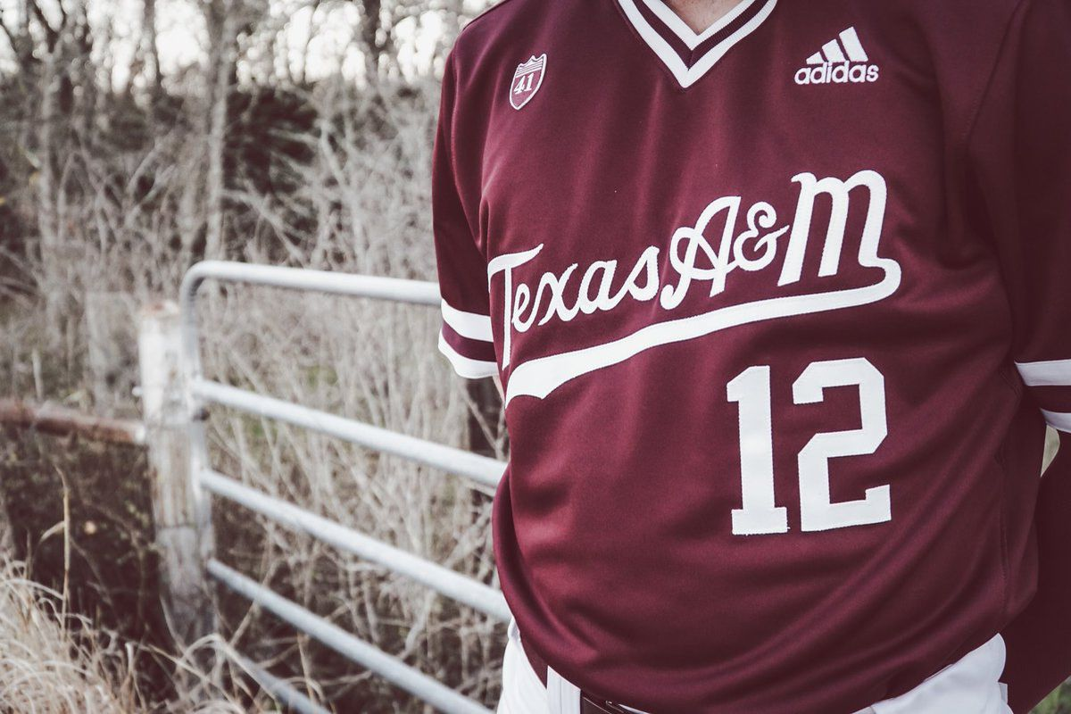 competitive price 4f397 165c1 These Adidas Texas A&M Aggies baseball uniforms are ...