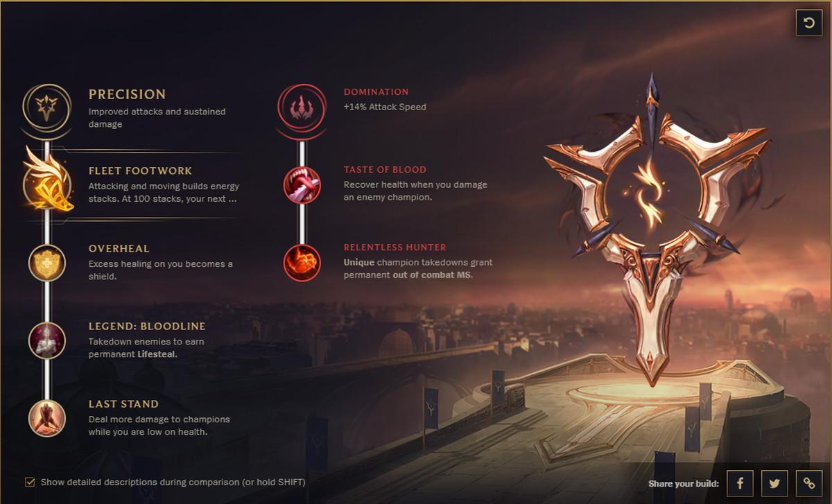 Leona New Runes Build
