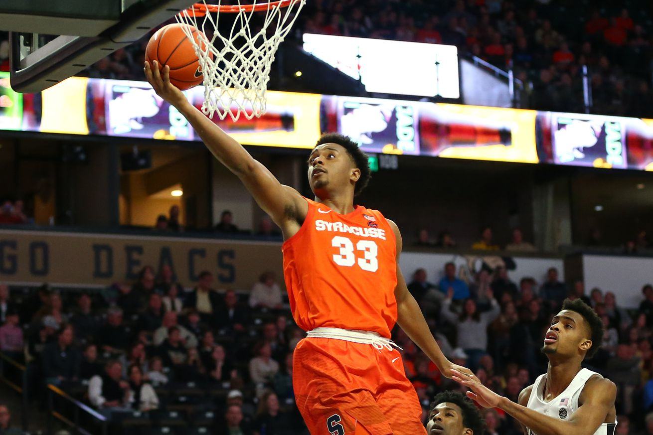 Syracuse crushed Wake Forest in Winston-Salem on Saturday, but they'll face a far tougher opponent back at the Carrier Dome this evening.