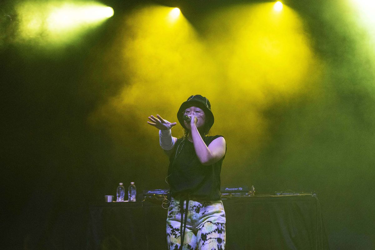 Yaeji performs on day one of the Pitchfork Music Festival.