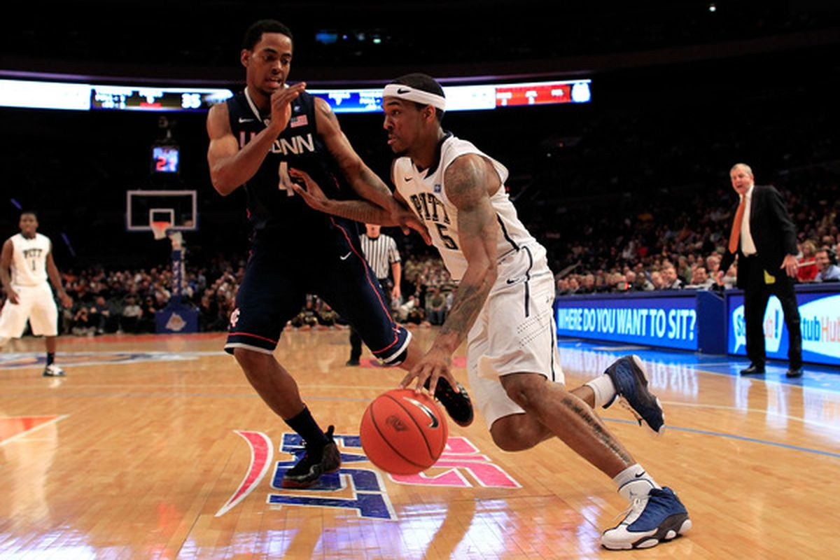 Gilbert Brown will need to contribute if Pitt is heading to Houston (Photo by Chris Trotman/Getty Images)