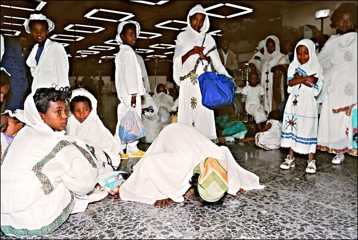 ethiopian jews arrive Israel