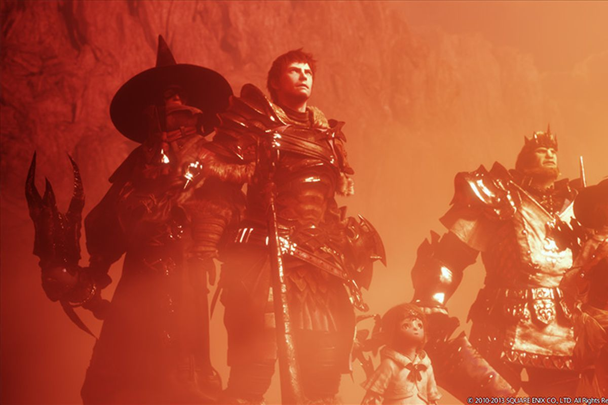 A group of warriors from Final Fantasy 14