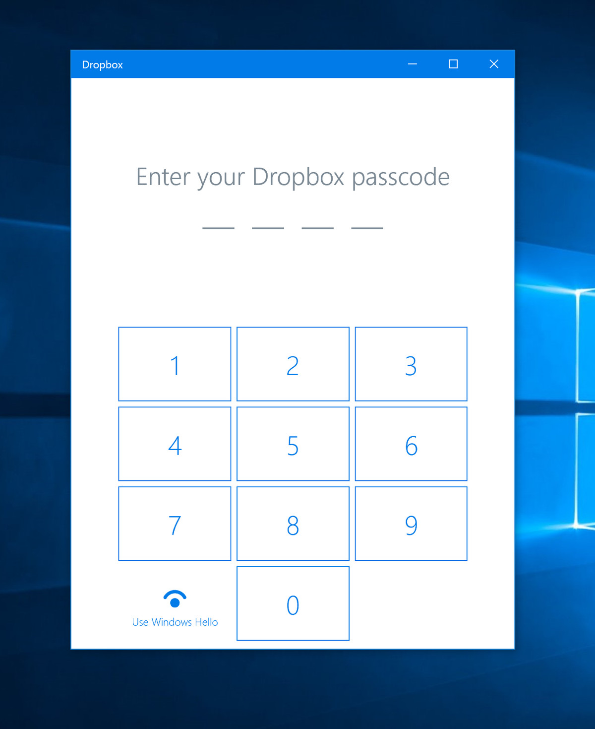 Dropbox's new Windows 10 app lets you secure your files with your