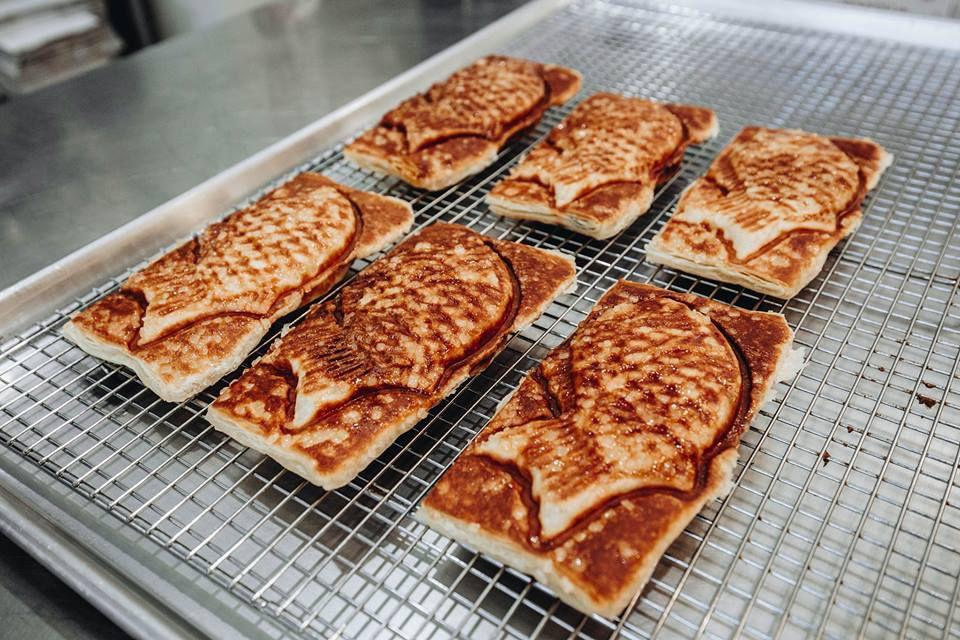 Croissant dough pressed into Japanese-style taiyaki.