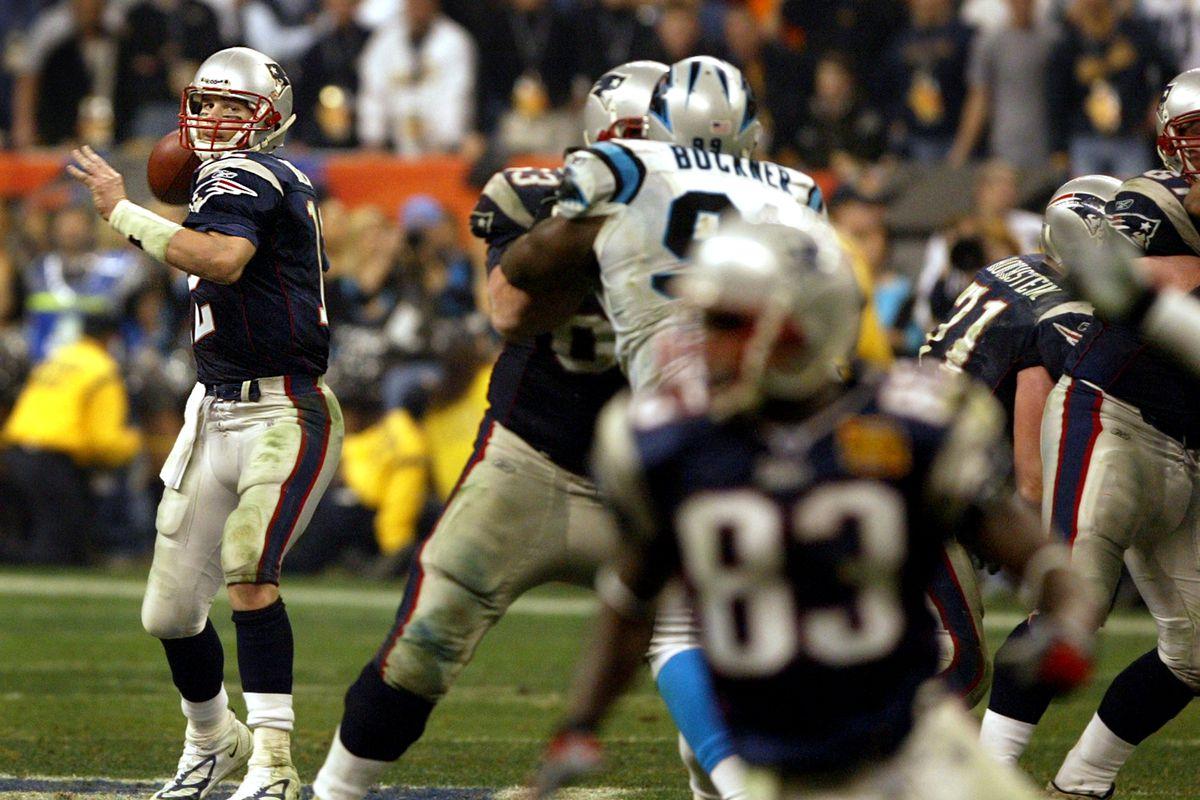 Patriots Super Bowl history  Super Bowl XXXVIII vs the Carolina ... e48437197