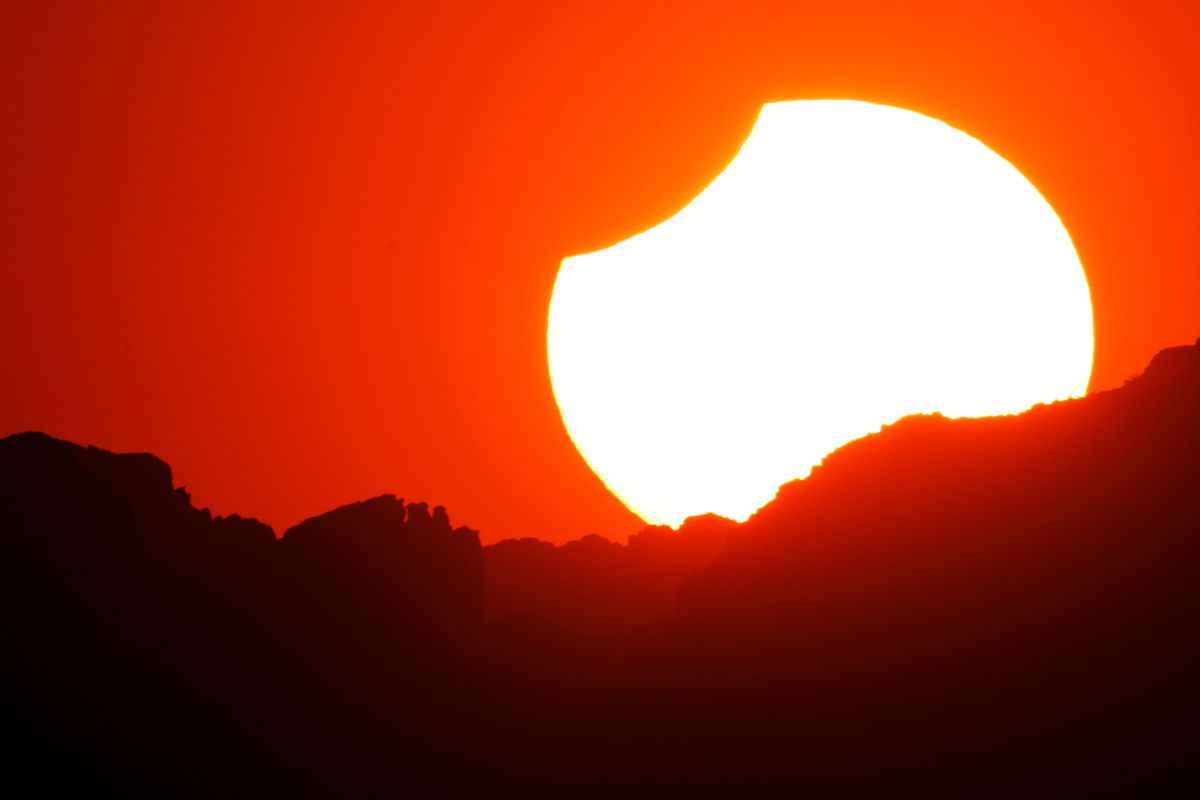 A 2012 partial eclipse, photographed in California.
