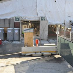 Wide view of Gate K area -