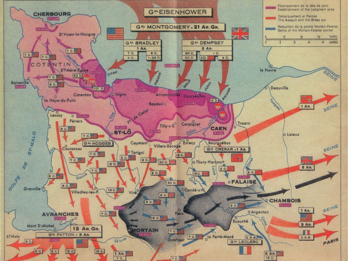 D Day Map The story of D Day, in five maps   Vox D Day Map