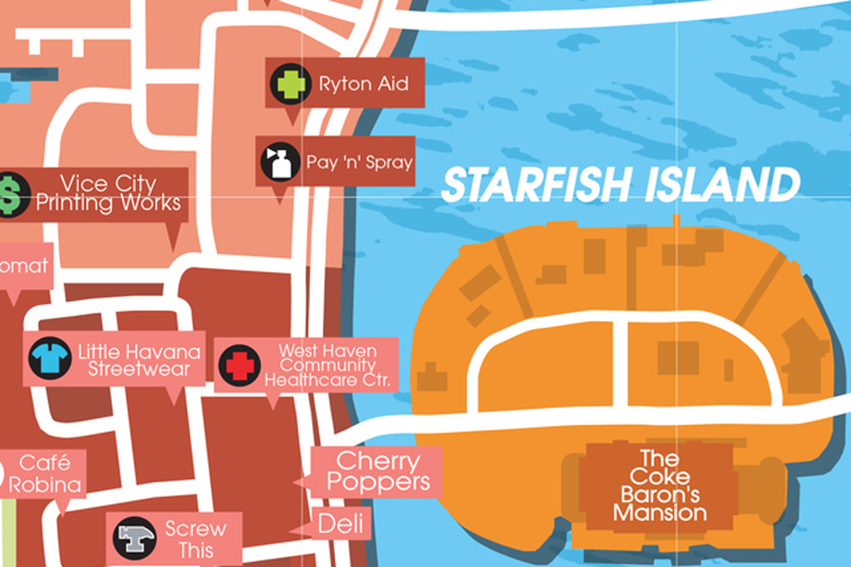 Maps for Grand Theft Auto III Vice City and San Andreas