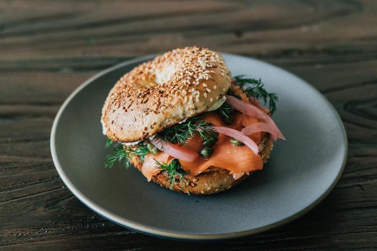 Bagel And Lox From Point Five Espresso Bar Pointfive
