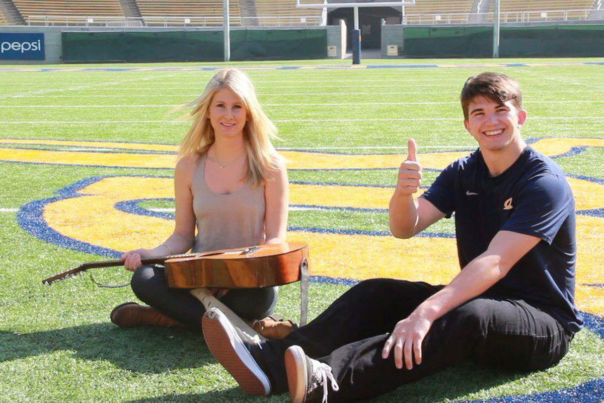 Zach Kline with Lindsay Brauner