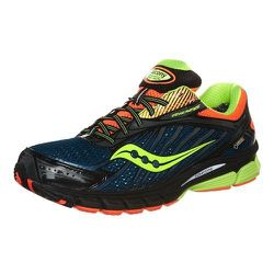 """Sport: Running. <strong>Saucony</strong> Men's Waterproof ProGrid Ride 6 GTX in Blue/Orange,  <a href=""""http://www.citysports.com/Saucony-ProGrid-Ride-6-GTX---Mens/227266/Product"""">$130</a> at City Sports"""