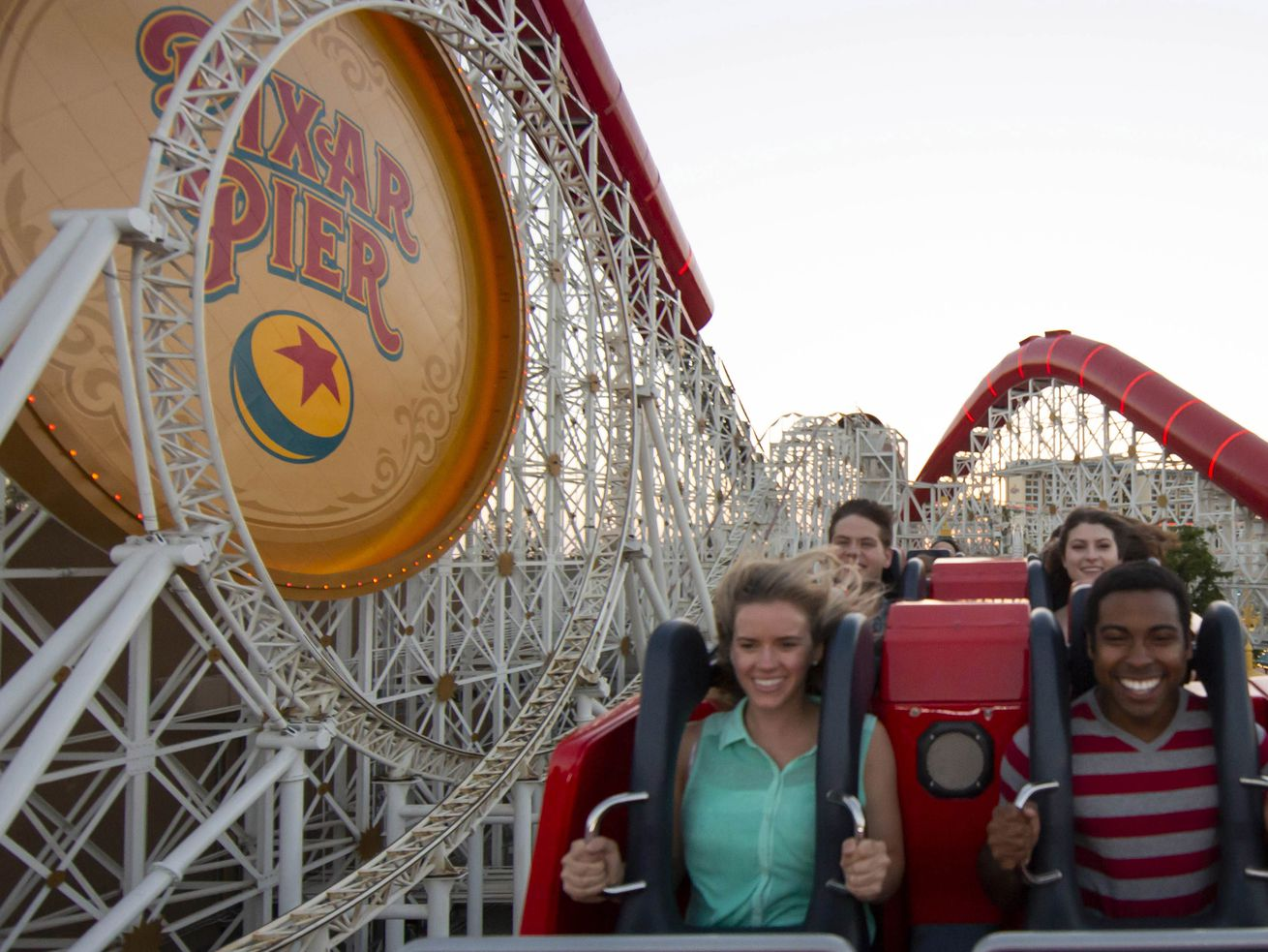 """The thrilling Incredicoaster at Disney California Adventure Park brings guests the first ride-through attraction in the world featuring characters from Disney•Pixar's """"The Incredibles."""""""