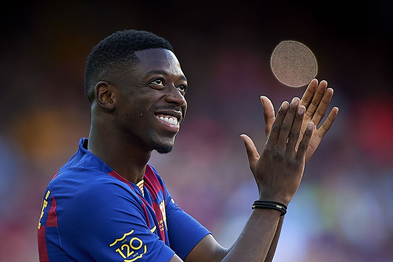 Barcelona include Dembele in Champions League squad