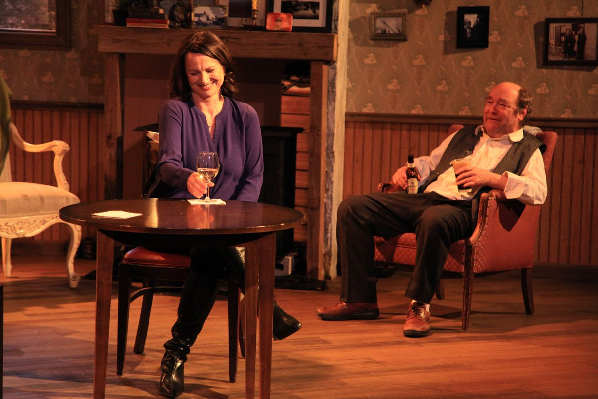 """Sarah Wellington and Brad Armacost in Irish Theatre of Chicago's production of """"The Weir,"""" directed by Siiri Scott. 