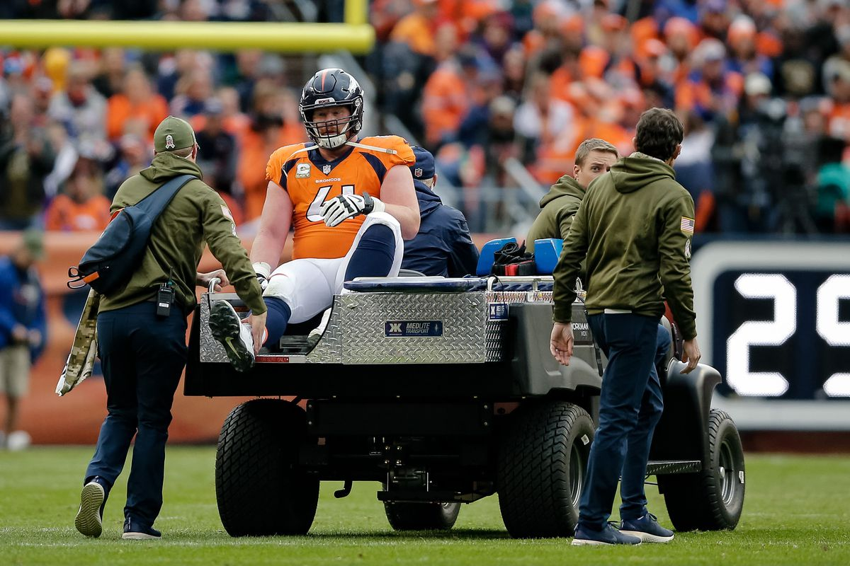 d9ff336d58c Isaiah J. Downing-USA TODAY Sports. Denver Broncos center Matt Paradis ...