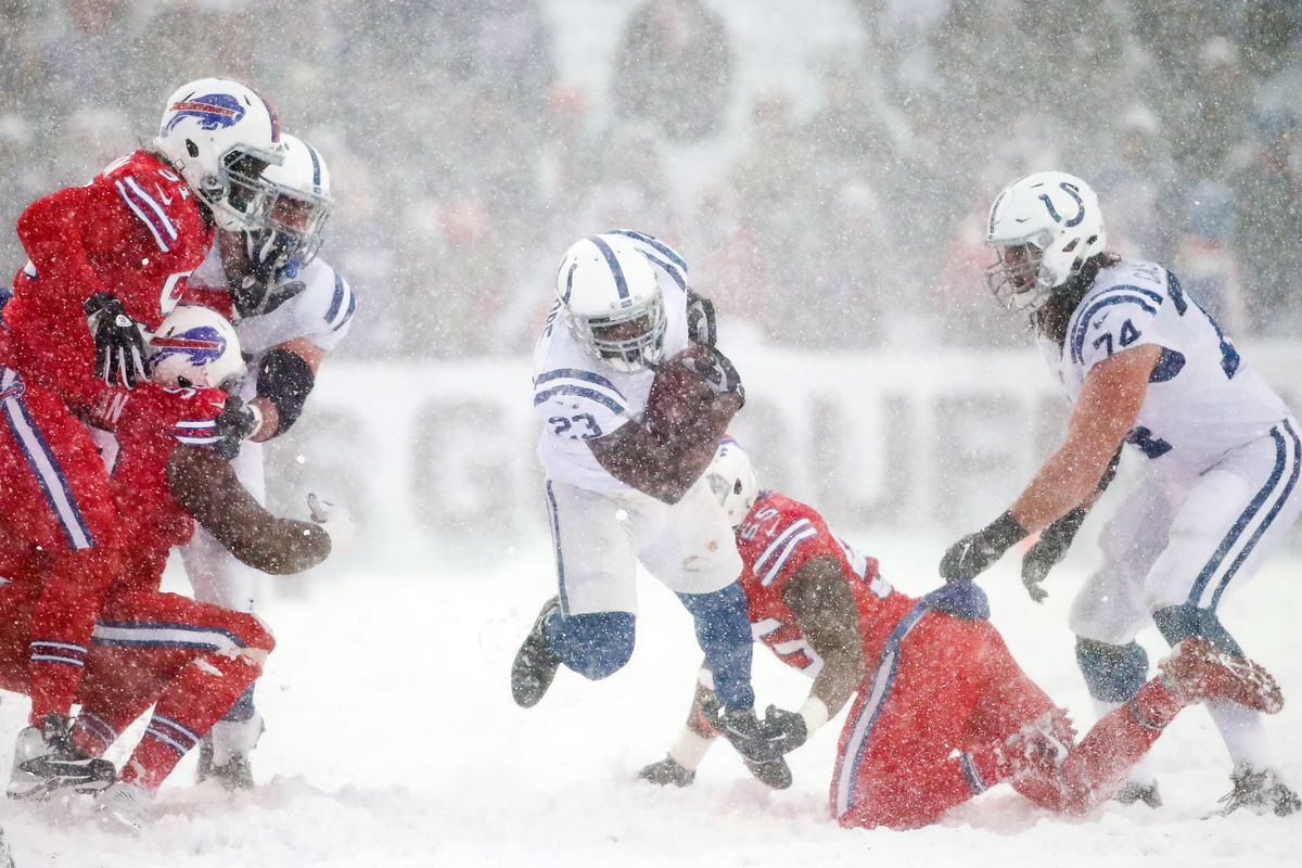 Colts Week 14 Snap Counts Vs Bills Snow Storm Calls For Blue Collar Day Stampede Blue