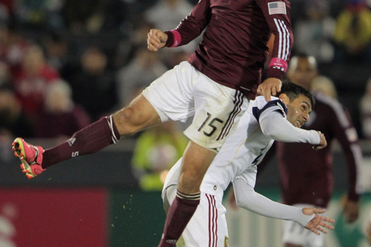 This picture isn't from the Santos game, but I think it sums it up quite nicely.