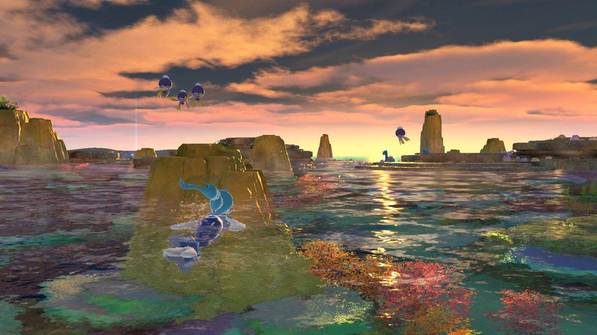 Water Pokemon in Pokemon Snap.