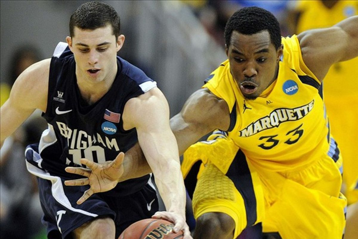 Hey, check it out, I found a picture of Matt Carlino literally beating out Derrick Wilson for something.