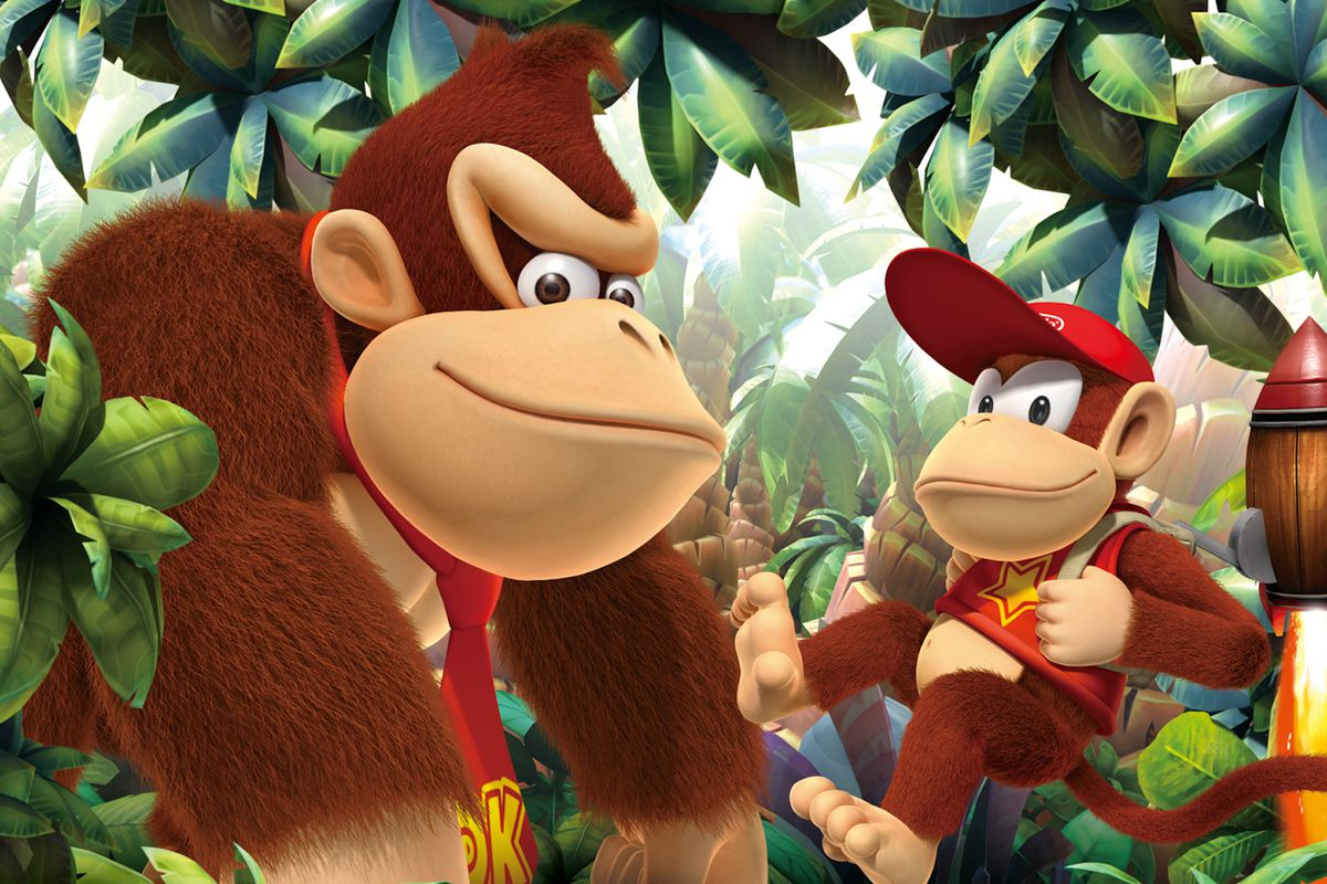 Artwork of Donkey Kong and Diddy Kong from Donkey Kong Country Returns 3D