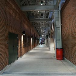 The right field tunnel, under the bleachers, before the game