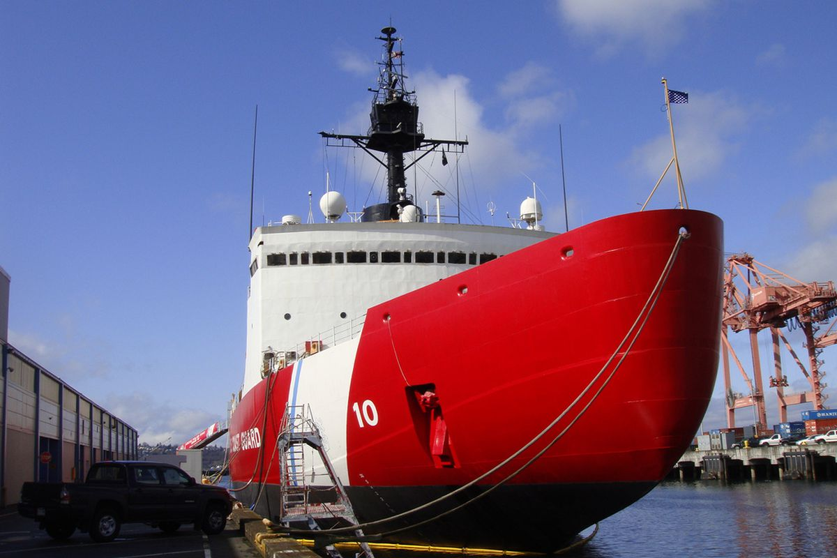 The US Coast Guard Cutter Polar Star in Seattle moments before the reactivation ceremony in 2010.