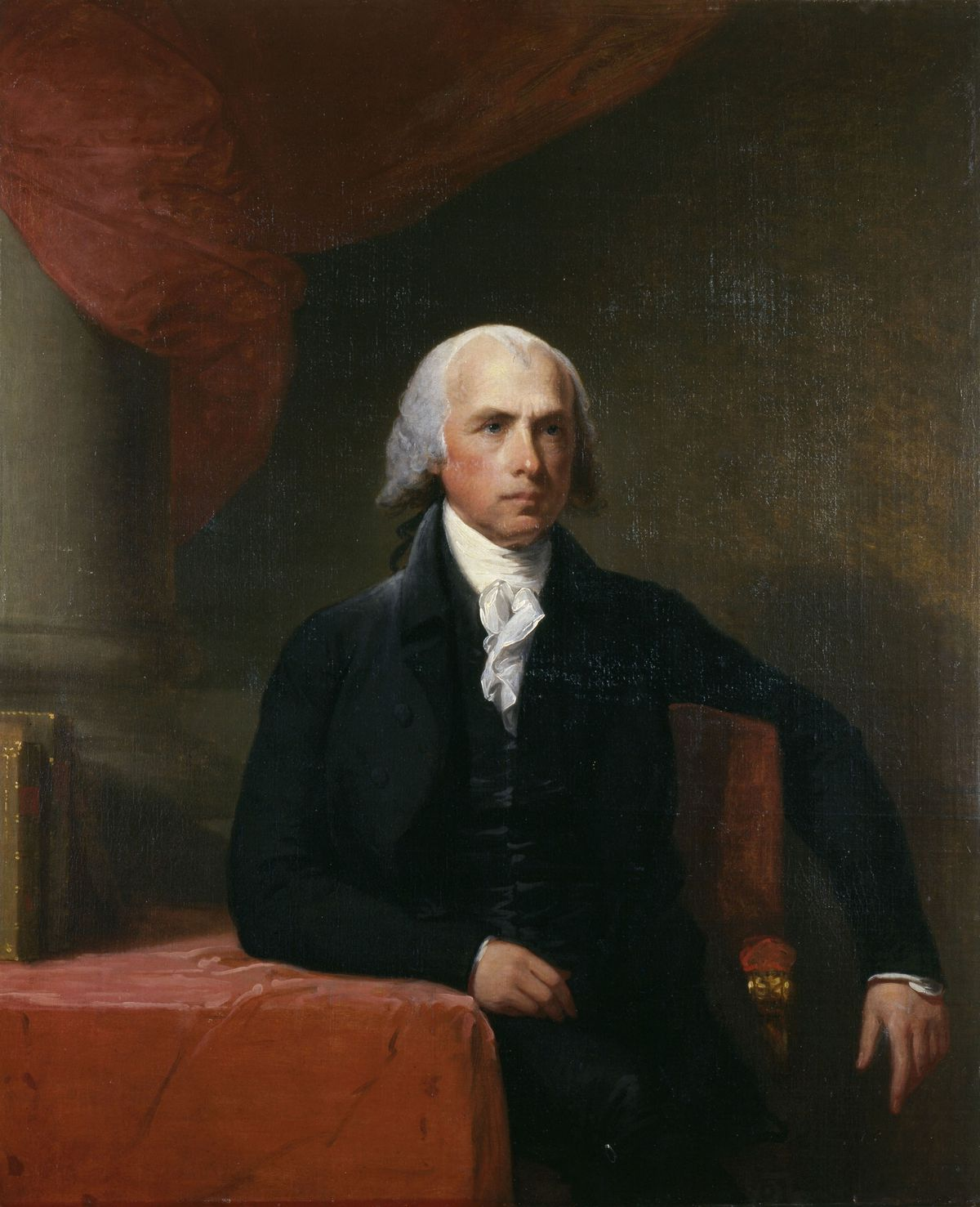 portrait of james madison by gilbert stuart who made additional copies after completion of