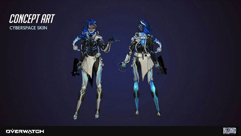 A look at Sombra's early concepts and her legendary skins - Polygon