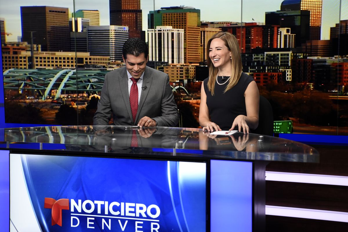 nchors Carlos Rausseo and Pamela Padilla prepare for their 4:30 p.m. telecast. Telemundo Denver is coming on strong thanks to major investment by NBC Universal. In February Telemundo Denver outranked all other Spanish-language TV stations (ie. Univision),