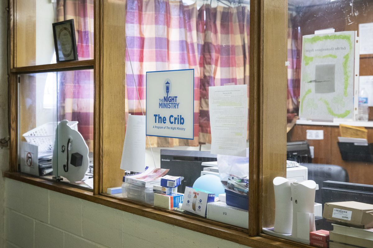 The office space for The Crib, The Night Ministry's overnight youth shelter, at LakeView Lutheran Church, 835 W. Addison St. | Ashlee Rezin/Sun-Times