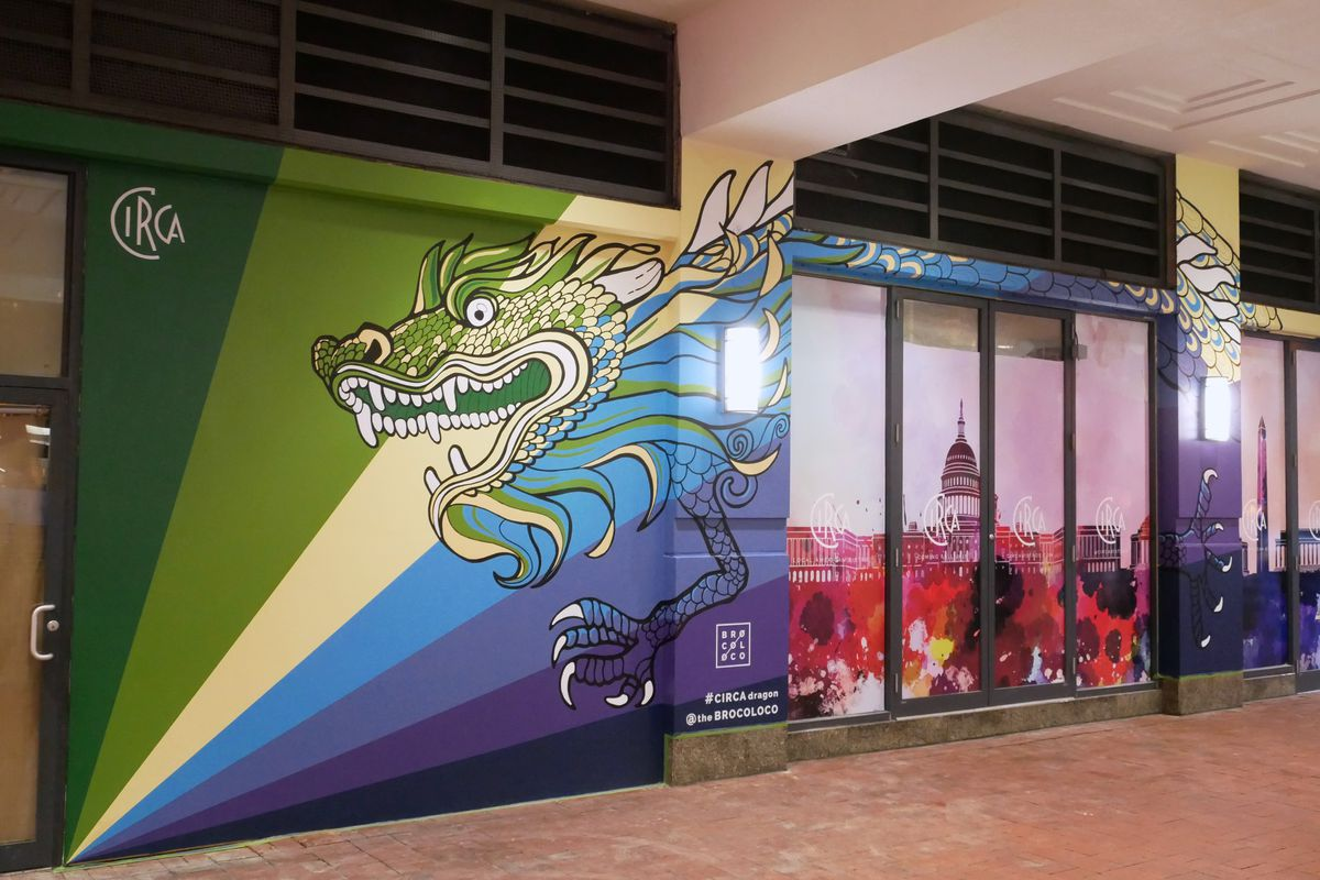 Chinatown has a new massive mural of a dragon curbed dc for Chinatown mural chicago