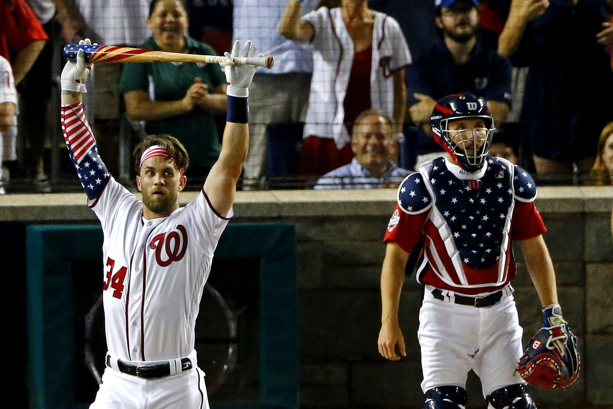 competitive price 35d3b b4717 Home Run Derby 2018 results: Bryce Harper wins thrilling ...