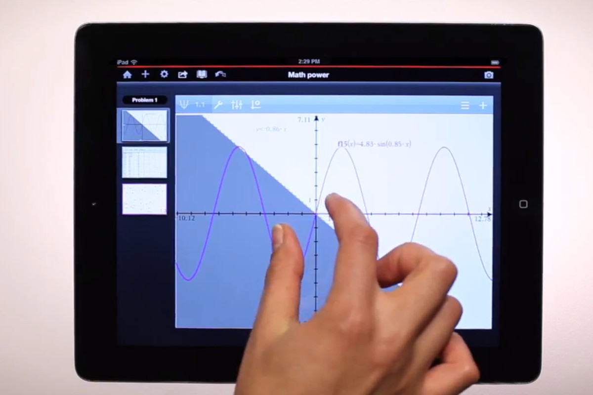 Texas Instruments' TI-Nspire app is a graphing calculator tailored