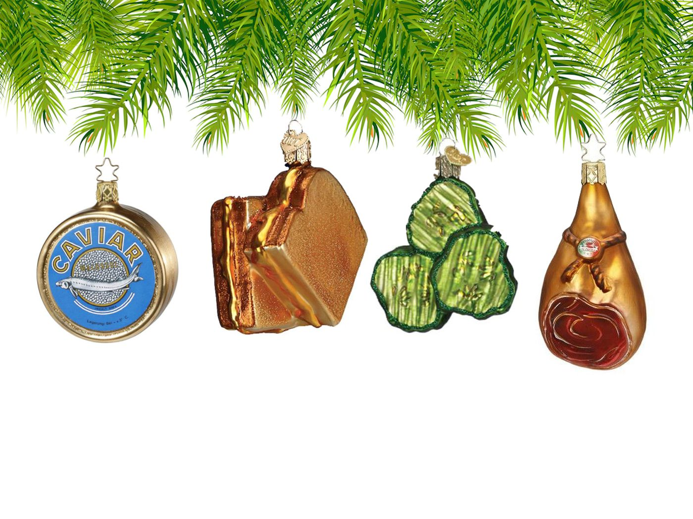 Food-Themed Christmas Ornaments Have Zero Calories and Oodles of ...